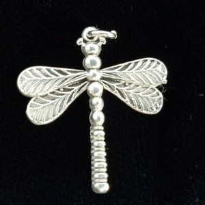 DRAGONFLY Sterling silver pendant 24x20mm artisan